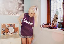 Jessica-April Davies - Gig The Drums T Shirt, H&M Shorts, Primark Tights - The drums