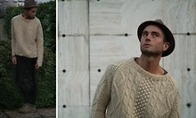 Michael Stephens -  - Beige Knit // Black Leather // Milan FW AW11