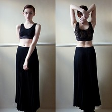 Katie C. - Urban Outfitters Crop Top, Cow Pleated Skirt - Aya