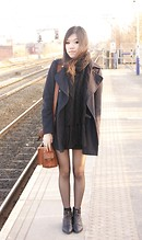 Diane K - Topshop Coat, Topshop Zip Boots - Day after Beady Eye