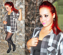 Carla Maciel - Checked Shirt, Oxford Shoes - Always rock §