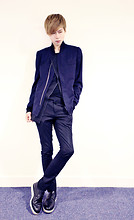 Elvin Feng - Paul Smith Jacket, Dior Homme Waistcoat, Asos Trousers, Asos Shoes - BLACK