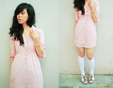 Reese Ungson - Esprit Long Pink Poloshirt, Charles And Keith Brown Heels - Leave Your Fingers Tangled On My Unbrushed Hair