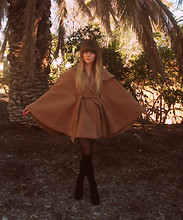 Claire Mcmanus - Camel Cape, Betts Suede Wedges - Friday Feeling :) GIVEAWAY ON MY BLOG!!!