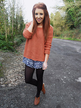 Suzin S - New Look Jumper, Primark Playsuit, Primark Brogues - Seeing is Deceiving, Dreaming is Believing