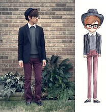 Jeremy Cunanan - Forever 21 Nerd Glasses, Pacsun Plum Trousers, H&M Classic Black Blazer - S.W.A.G. (Something We Asians Got)