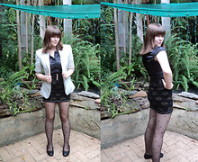 Jackie B - Review Blouse, Cue Blazer, Made By Me :) Skirt - At night we watched the stars explode.