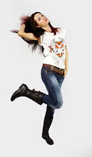 Vanessa Karla - Puramania Long T Shirt, Puramania Leather Belt, Puramania Blue Jeans, Mooncity Leather Boot - Make some noise!