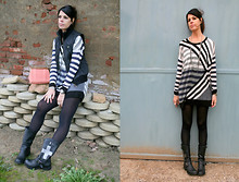 Federica B - H&M Sweater - Stripy Sweater Worn As A Dress