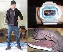 Ross D - Nike Toki Nd, Levi's® 511 Jeans, H&M Jacket, All Son Hoody, Casio G Shock, New Era Fitted - 3 Weeks