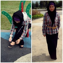 Ili Baharin - Forever 21 Black, Zara Colourful, Cotton On Heels - When the going gets tough, the tough get going