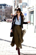 Andy T. - River Island Skirt, American Apparel Headband, Dolce & Gabbana Sunnies - WE ARE GOLDEN