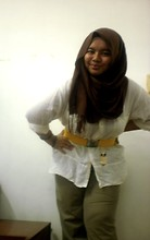 Iyza Ariff - H&M Pashmina, Nichii Belt, Forever 21 Owl Necklace, British India White Blouse, Nearest Pre Loved Striped Pants - New?