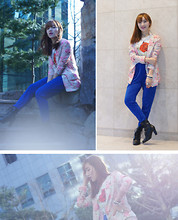 Sunhwa Hwang. Muse S - Leshop Vivid Flower Blazer - So vivivid flowers