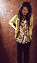 Emilia J - Forever 21 Mustard Cardigan, Forever 21 Leopard Blouse - I fell in love with mustard