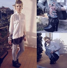 Fanny † Dead Can Wear - Sam Edelman Zoe Boots, Old Mother's Shirt, Destroyed T Shirt By Me - Sunny provence day