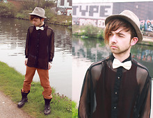Charlie Matthews - Trilby, Ebay Sheer Shirt, Bow Tie - Colour My Life With The Chaos Of Trouble