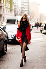 Chiara Ferragni - Pennyblack Red Coat - Romantic me