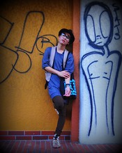 AGenT PaLm - Harajuku Lovers Basic Tote, Cole Haan Gladiator Sandals, Bcbg Suede Fedora, Tokyo, Japan Geeky Specs, Bcbg Cashmere Tunic, Willow For The Ramp Crossings Vest, Bcbg Military Zip Up Leggings, Bcbg All Accesories - WimPy LoVes GraFFiTi
