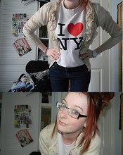 Sarah Fitzgerald - New Look Cardi, New York Tee, Minx Belt, Primark Jeans, Argos Watch - I Can't Seem To Find Your Heart.