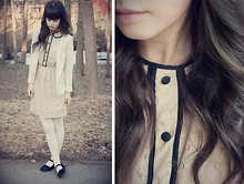 Ron S - Love Beige Dress, H&M Beige Cardigan, H&M Beige Tights - Bright