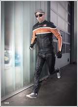 Ivan Johannes - Moto70 Leather Jacket, Polo Leather Jeans, Louis Gloves, Converse Chucks - Speed