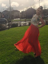 Megan Meenan - Vintage Top, Asos Skirt, Topshop Heels - Sun your blinding me I cant see