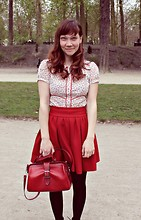 Essi H. - Pimkie Shirt, Zara Skirt, From Marrakech Bag - Warandepark