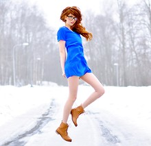 Ebba Zingmark - Ladress Dress, H&M Boots, E&E Glasses - KOBOLT JUMP