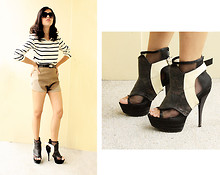 Louise Buenaobra - Zara Striped Top, Trivia Booties, Trivia Waist Belt - Easy Way to Kill