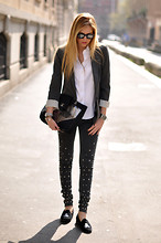 Chiara Ferragni - Dimitris Zoz Denim Jeans - Chic attitude- The Blonde Salad