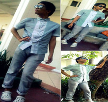 Javi Capuno - Ray Ban Shades, F&H Gray Slim Pants, Crocs Shoes - Once boredom hits, Styling sets in