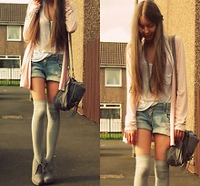 Lynsay P - New Look Cardigan, New Look Shorts, Topshop Socks - Where you might be