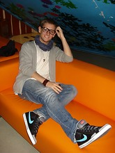 Danny Warren - Probably Ikea ^^ Pretty Orange Sofa, Nike Shoes, Converse Leather Bracelet, Funk&Soul Jeans - Orange leisure, without coffee...