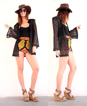 BRIT N. - Crystallized Vintage Bell Sleeve Lace Cardigan - ALL IN A DAY'S WORK / disarming darling