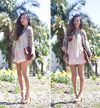 Aimee Song - Bamboo Sky Dress, Jeffrey Campbell Heels - Scavenger Hunt