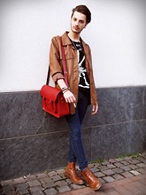 Dustin H. - Bag, Second Hand Jacket, Boy London Tee, Ebay Boots - Changing skies