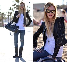 Chiara Ferragni - Amen Jacket - Barcelona in my heart- The Blonde Salad