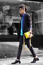 Curtis Yu - Céline Trio Bag, Dress Code Blazer, Alexander Wang Shoes - Yellow trio