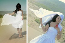 Tresnany Sheyza - Glitz Boutique White Dress, Cocopink White Scarf - A Moment To Remember...