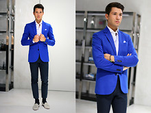 Filippo Fiora - Zara Jacket, Prada Pants - Nuances of Blue
