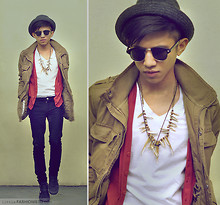 Mc kenneth Licon - H&M Parka, Levi's® Skinny Jeans, Urban Outfitters High Top Sneakers - Tribal