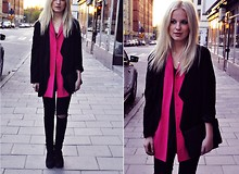 My Blomquist - Frk Jacket, Secondhand Jacket, Cheap Monday Jeans - P!NK