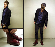Andreas Wijk - Dr. Martens, Acne Studios Jacket From, Chea P Monday Denim, Jimmy Choo Tee - With my red shoes...