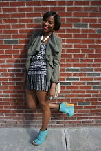 Monroe Steele - Target Jacket, Target Romper, Coach Cross Body Bag, Messica Caroline Wedges, Modern Tibet Necklace - Target Tuesdays