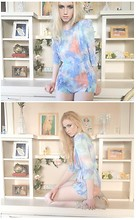 Eleonore Santos - Garden Party Watercolor Romper - Watermarks