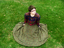 Sam N - Thrifted Printed, Thrifted Paisley Skirt - Dazing in a sinkhole