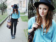 Anita Suchocka - Sh Shirt, H&M Pants, Wit Leather Hat, Sh Bag - Last Resort