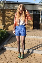Maria B - H&M Jacket, Myrorna Second Hand Shorts, H&M Shoes - Last days of april
