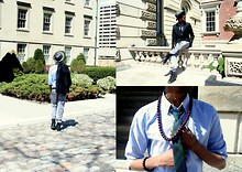 Sidney Richardson - H&M Blazer, Vintage Hat, H&M Pants, Vintage Tie, Wooden Bracelet - I don't want to be a Superstar, I just want to be known...